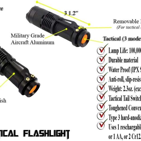 mini tactical flashlight