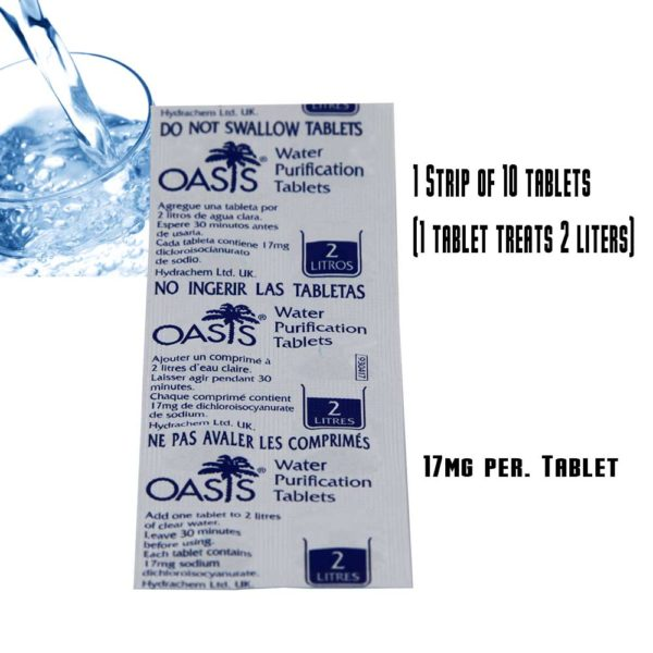 oasis water tablets